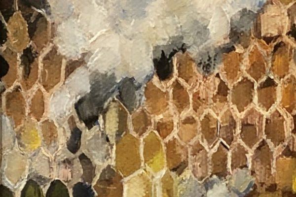 SUMMER HONEY by CYNTHIA DAVIS, Oil 12x4 $225