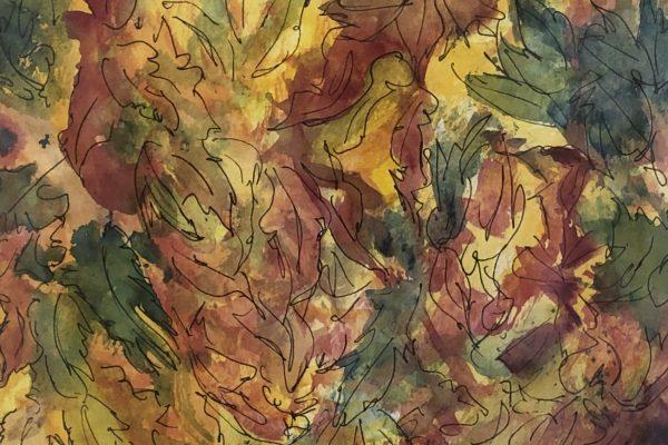FALLEN LEAVES by JANE CAPEN, Mixed Media 8x10$250
