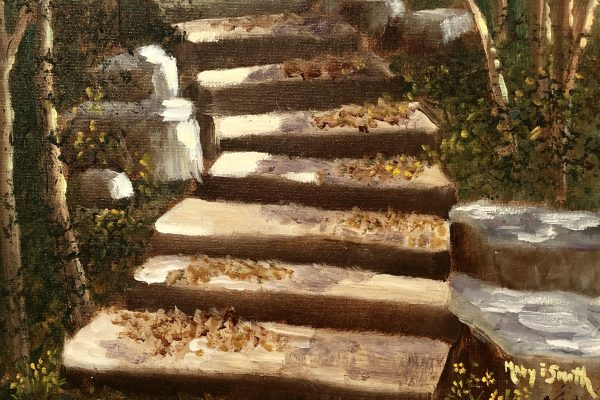 AUTUMN FALLEN LEAVES by MARY SMITH, Oil, 11x14$260
